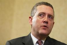 James Bullard, President of the St. Louis Federal Reserve Bank, speaks during an interview with Reuters in Boston, Massachusetts August 2, 2013. REUTERS/Brian Snyder