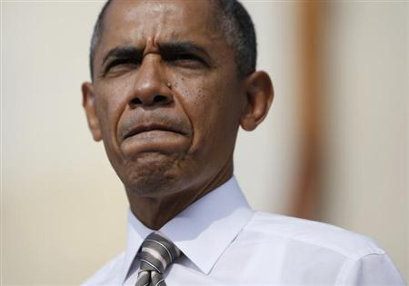 10月10日、米ニューヨーク・タイムズ紙によると、オバマ米大統領は、共和党が提案した短期間の債務上限引き上げ案について、政府機関の再開が含まれていないため、拒否した。3日撮影(2013年 ロイター/Jason Reed)