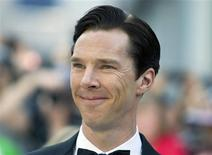 """Cast member Benedict Cumberbatch Cumberbatch arrives for the premiere of the film """"The Fifth Estate"""" at the 38th Toronto International Film Festival in Toronto in this September 5, 2013 file photo. REUTERS/Fred Thornhill/Files"""