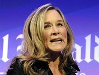 Burberry CEO Angela Ahrendts speaks at the IHT Heritage Luxury conference in London in this November 9, 2010 file photo. REUTERS/Paul Hackett