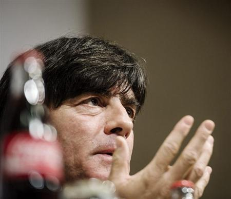 Germany's national soccer team coach Joachim Loew attends a news conference in Stockholm October 14, 2013. REUTERS/Vilhelm Stokstad/TT News Agency