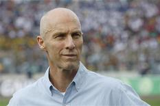 Egypt team coach Bob Bradley stands during their 2014 World Cup qualifying soccer match against Ghana at the Baba Yara Sports Stadium in Kumasi October 15, 2013. REUTERS/Luc Gnago