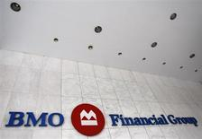 A Bank of Montreal sign is seen at a branch in Toronto November 9, 2007. REUTERS/Mark Blinch