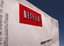 A Netflix return CD mail envelope is shown in Encinitas, California, April 19, 2013. REUTERS/Mike Blake