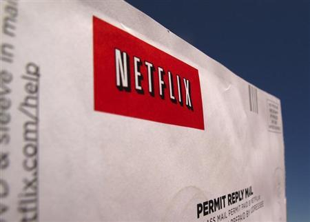 A Netflix return CD mail envelope is shown in Encinitas, California, April 19, 2013. REUTERS/Mike Blake
