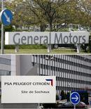 """La coopération de PSA Peugeot Citroën avec General Motors pourrait encore être revue à la baisse. Selon PSA, qui a enregistré un nouveau recul de ses ventes au troisième trimestre, le projet d'une plate-forme avec le constructeur américain dans les voitures à faible émission de CO2 fait l'objet d'un """"réexamen"""". /Photo d'archives/REUTERS"""