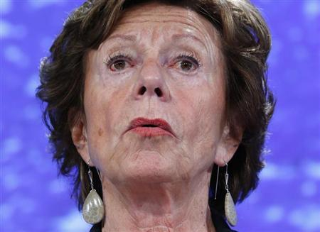 European Commissioner for Digital Agenda Neelie Kroes holds a news conference on the European Commission telecoms package in Brussels September 12, 2013. REUTERS/Yves Herman