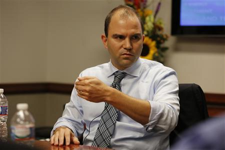 Ben Rhodes, assistant to the President and Deputy National Security Advisor for Strategic Communications at the White House, answers a question during the Reuters Washington Summit in Washington, October 24, 2013. REUTERS/Jim Bourg