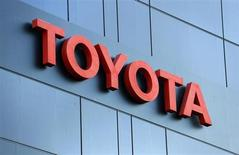 The Toyota logo is seen at a dealership of Japan's Toyota Motor Corp in Brussels October 10, 2012. REUTERS/Francois Lenoir