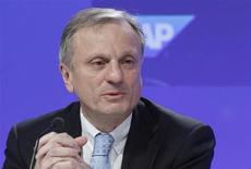 Werner Brandt attends the company's balance sheet news conference in Frankfurt January 25, 2012. REUTERS/Lmar Niazman