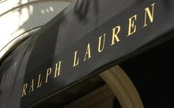 The Polo Ralph Lauren logo is seen on their boutique on Rodeo Drive in Beverly Hills, California August 5, 2008. Polo Ralph Lauren Corp is due to report its earnings on Wednesday. REUTERS/Fred Prouser