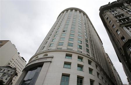 The headquarters of OGX Petroleo e Gas Participacoes SA, the cash-strapped Brazilian oil company controlled by former billionaire Eike Batista, is pictured in downtown Rio de Janeiro October 29, 2013. REUTERS/Sergio Moraes
