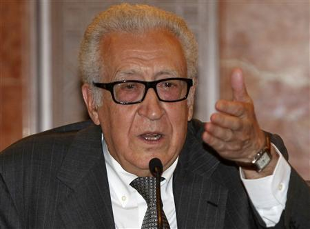 United Nations Peace Envoy for Syria Lakhdar Brahimi speaks during a news conference in Damascus November 1, 2013. REUTERS/Khaled al-Hariri