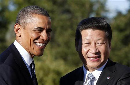 U.S. President Barack Obama meets with China's President Xi Jinping at the G20 Summit in St. Petersburg September 6, 2013. REUTERS/Kevin Lamarque/Files