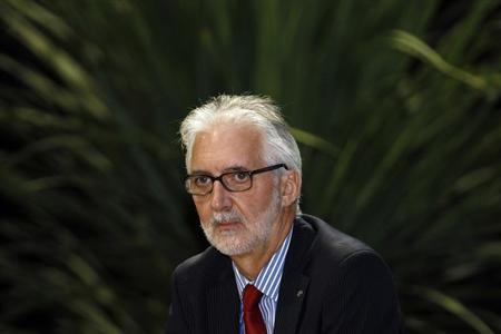 International Cycling Union (UCI) newly elected president Brian Cookson attends a news conference in Florence September 28, 2013. REUTERS/Giampiero Sposito