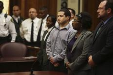 Eric Rivera Jr. is found guilty of second degree murder in the death of Sean Taylor in Miami, Florida November 4, 2013. REUTERS/Walter Michot/Pool