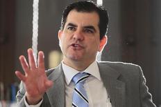 Diretor do Banco Central, Anthero Meirelles, durante entrevista à Reuters em Brasília. A elevação da taxa básica de juro Selic para o combate à alta de preços no país não afetará a inadimplência, avaliou Meirelles nesta terça-feira. 6/10/2011. REUTERS/Ueslei Marcelino