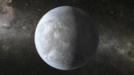 Representación artística del exoplaneta Kepler-62e. Una de cada cinco estrellas similares al Sol en la Vía Láctea tiene un planeta del tamaño de la Tierra que está adecuadamente posicionado para tener agua, un ingrediente clave para la vida, según un estudio. REUTERS/NASA Ames/JPL-Caltech/Handout via Reuters Imagen para uso no comercial, ni ventas, ni archivos. Solo para uso editorial. No para su venta en marketing o campañas publicitarias. Esta fotografía fue entregada por un tercero y es distribuida, exactamente como fue recibida por Reuters, como un servicio para clientes.
