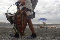 Торговец на пляже в Адлере 22 сентября 2013 года. Индекс потребительских цен в РФ в октябре 2013 года вырос на 6,3 процента по сравнению с октябрем 2012 года и на 0,6 процента - сентябрем 2013 года, сообщил Росстат. REUTERS/Maxim Shemetov