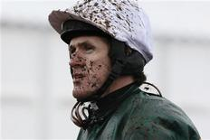 Tony McCoy is seen during the Cheltenham Festival horse racing meet in Gloucestershire, western England, March 15, 2013. REUTERS/Stefan Wermuth