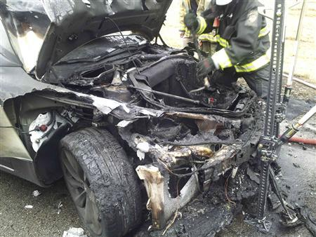 Tesla reports third fire involving Model S electric car