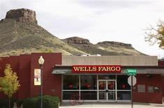 The Wells Fargo bank branch is seen in Golden, Colorado October 11, 2013. REUTERS/Rick Wilking