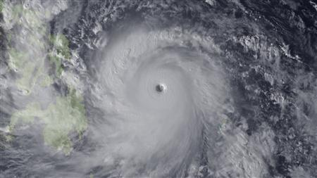 Super Typhoon Haiyan is seen approaching the Philippines in this Japan Meteorological Agency handout image taken at 0630 GMT (0130 EST) November 7, 2013. REUTERS/Japan Meteorological Agency/NOAA/Handout via Reuters