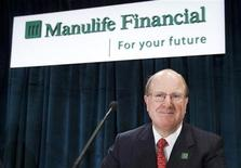 Manulife Financial CEO Don Guloien arrives at their annual general meeting of shareholders in Toronto, May 3, 2012. REUTERS/Mark Blinch