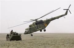 طائرة هليكوبتر روسية من طراز (مي-17) - ارشيف رويترز