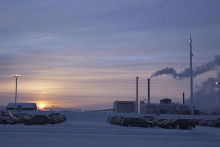 A general view of Talvivaara's nickel mine in Sotkamo January 16, 2013, in this picture provided by Lehtikuva. REUTERS/Kimmo Rauatmaa/Lehtikuva