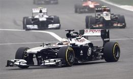 Williams Formula One driver Pastor Maldonado of Venezuela drives during the Indian F1 Grand Prix at the Buddh International Circuit in Greater Noida, on the outskirts of New Delhi, October 27, 2013. REUTERS/Adnan Abidi