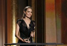 Actress Angelina Jolie accepts the Jean Hersholt Humanitarian Award at the 5th Annual Academy of Motion Picture Arts and Sciences Governors Awards at The Ray Dolby Ballroom in Hollywood, California November 16, 2013. REUTERS/Mario Anzuoni