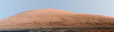 A portion of Mount Sharp, on Mars is pictured in this panorama made from a mosaic of images taken by the Mast Camera (Mastcam) on NASA's Mars rover Curiosity September 20, 2012 and released as a NASA handout image March 15, 2013. REUTERS/NASA/JPL-Caltech/MSSS/Handout