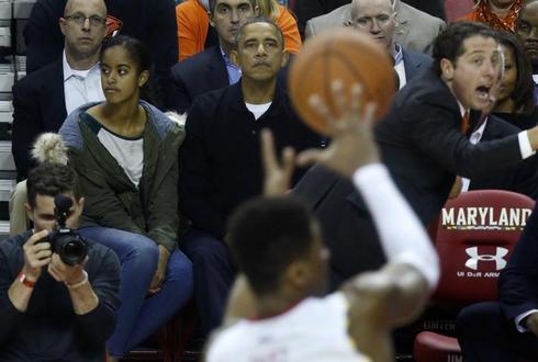 Obama at the game