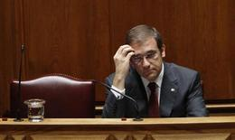 Portugal's Prime Minister Pedro Passos Coelho reacts during the presentation of the 2014 state budget at parliament in Lisbon November 1, 2013. REUTERS/Hugo Correia