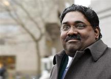 Galleon hedge fund founder Raj Rajaratnam leaves federal court after opening arguments in his insider trading case in New York March 9, 2011. REUTERS/Brendan McDermid