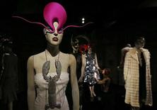 Co-curator Shonagh Marshall poses for photographers at the Isabella Blow: Fashion Galore! exhibition at Somerset House in London November 19, 2013. REUTERS/Suzanne Plunkett