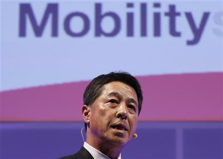 Mazda Motor Corp Chief Executive Officer Masamichi Kogai speaks during an event ahead of the Tokyo Motor Show in Tokyo November 19, 2013. REUTERS/Toru Hanai