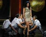 Comedienne Sarah Silverman performs a musical number mid-show at the 65th Primetime Emmy Awards in Los Angeles September 22, 2013. REUTERS/Mike Blake