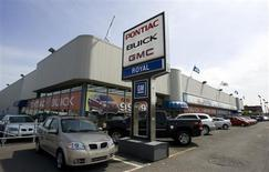 A General Motors dealership is seen in Montreal May 20, 2009. REUTERS/Christinne Muschi