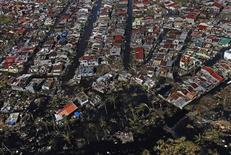 An aerial view of the devastation is seen in the aftermath of Super Typhoon Haiyan in Palo, a township south of Tacloban City in central Philippines November 18, 2013. REUTERS/Edgar Su