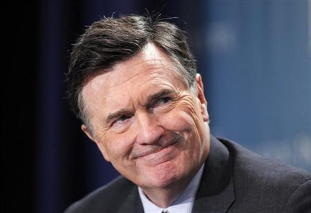 Dennis Lockhart, President, Federal Reserve Bank of Atlanta, takes part in a panel discussion titled ''Twist and Shout: The Limits of U.S. Monetary Policy'' at the Milken Institute Global Conference in Beverly Hills, California May 1, 2012 file photo. REUTERS/Danny Moloshok