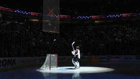 Colorado Avalanche goalie Semyon Varlamov stands for national anthems before their NHL hockey game against the Vancouver Canucks in Vancouver, British Columbia March 28, 2013. REUTERS/Andy Clark