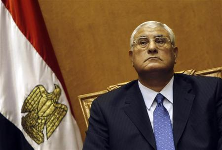 Adli Mansour, Egypt's chief justice and head of the Supreme Constitutional Court, attends his swearing in ceremony as the nation's interim president in Cairo July 4, 2013, a day after the army ousted Mohamed Mursi as head of state. REUTERS/Amr Abdallah Dalsh