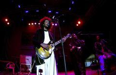 Tamikrest perform at the Sahel music festival in the Lompoul desert in Senegal November 22, 2013. REUTERS/Jean-Francois Huertas