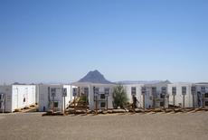 Empty trailers to house workers at the site of the gold and copper mine exploration project of Tethyan Copper Company (TCC) are seen in Reko Diq in Pakistan's province of Baluchistan in this undated 2010 photo. REUTERS/Faisal Aziz