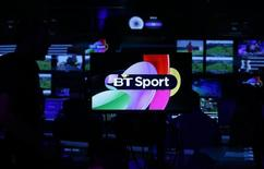 Production staff work in the gallery during the BT Sport channel launch program at the BT Sport studio in the Queen Elizabeth Olympic Park, in east London August 1, 2013. REUTERS/Suzanne Plunkett