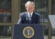 Former U.S. President George W. Bush addresses the dedication of the George W. Bush Presidential Center on the campus of Southern Methodist University in Dallas, Texas April 25, 2013. REUTERS/Mike Stone