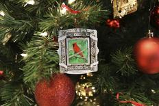 The 2013 Bush Center Ornament with art by President Bush is pictured in this undated handout photo courtesy of George W. Bush Presidential Center. REUTERS/George W. Bush Presidential Center/Handout via Reuters