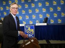 Royal Bank of Canada (RBC) President and CEO Gordon Nixon leaves after a news conference following the bank's Annual General Meeting in Calgary, Alberta February 28, 2013. REUTERS/Mike Sturk